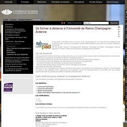 Se former à distance à l'Université de Reims Champagne-Ardenne