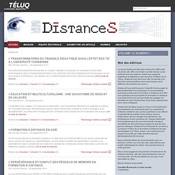 DistanceS - LA revue scientifique de la TÉLUQ