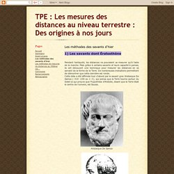 TPE : Les mesures des distances au niveau terrestre