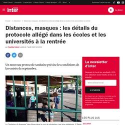 Distances, masques:les détails du protocole allégé dans les écoles et les universités à la rentrée