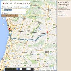 Distância Salamanca → Porto - Distância entre Salamanca e Porto
