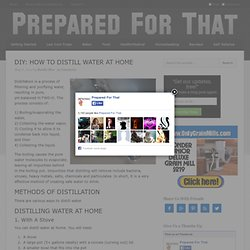 DIY Home Water Distillation