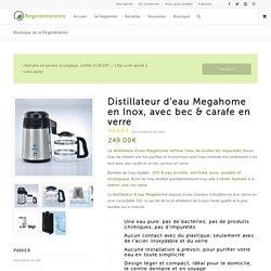 Distillateur d'eau Megahome - acier inox, carafe en verre