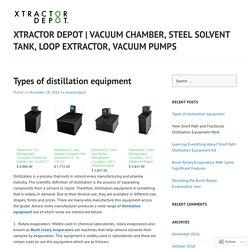 Vacuum Chamber, Steel Solvent Tank, Loop Extractor, Vacuum Pumps