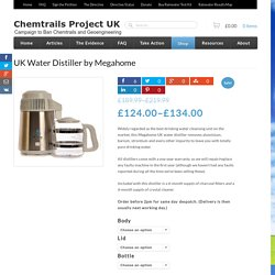 UK Water Distiller - Megahome 943SBS. Next day delivery.
