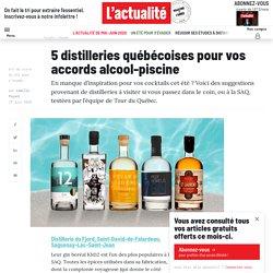 5 distilleries québécoises pour vos accords alcool-piscine
