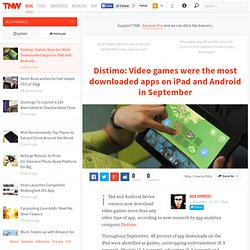 Distimo: Video games were the most downloaded apps on iPad and Android in September