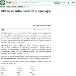 Distinção entre Fonética e Fonologia