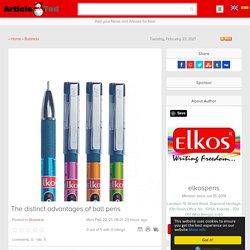 The distinct advantages of ball pens