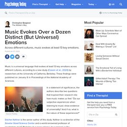 Music Evokes Over a Dozen Distinct (But Universal) Emotions