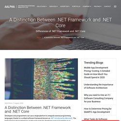 A Distinction Between .NET Framework and .NET Core