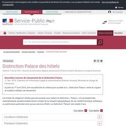 Distinction Palacedes hôtels - professionnels