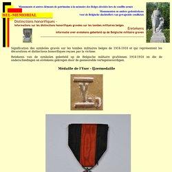 Distinctions honorifiques - Eretekens