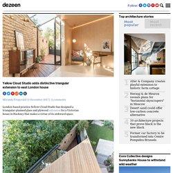 Yellow Cloud Studio adds distinctive triangular extension to London house