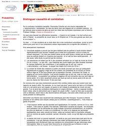 Distinguer causalité et corrélation - CNDP
