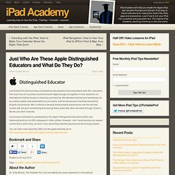 Apple Distinguished Educators and What Do They Do