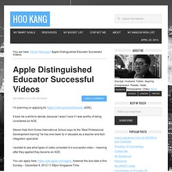 Apple Distinguished Educator Successful Videos