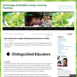 How to Become an Apple Distinguished Educator (or ADE)