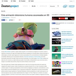 Esta animación distorsiona humanos escaneados en 3D
