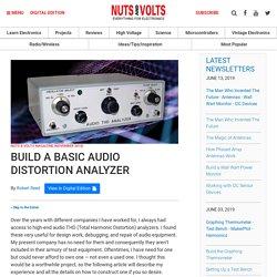 Build a Basic Audio Distortion Analyzer
