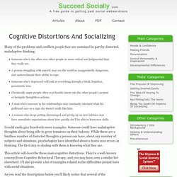 Cognitive Distortions And Socializing