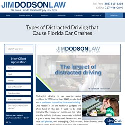 Types of Distracted Driving that Cause Car Accidents