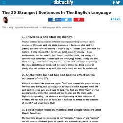 The 20 Strangest Sentences In The English Language