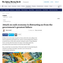 Attack on cash economy is distracting us from the government's greatest failure