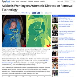 Adobe is Working on Automatic Distraction Removal Technology