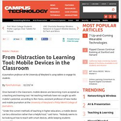 From Distraction to Learning Tool: Mobile Devices in the Classroom