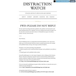 Distraction Watch