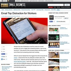Email Top Distraction for Workers