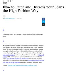How to Distress and Bleach Jeans - High Fashion DIY Denim Tutorial