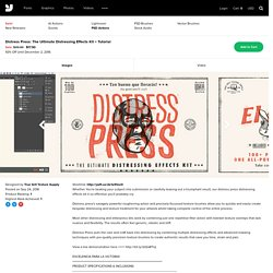 Distress Press The Ultimate Distressing Effects Kit + Tutorial - Extras - YouWorkForThem