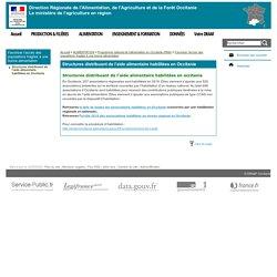 DRAAF OCCITANIE 22/03/20 Structures distribuant de l'aide alimentaire habilitées en Occitanie