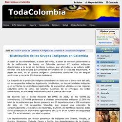 Distribucion de los Indigenas en Colombia - Ubicacion de los Grupos Indigenas de Colombia