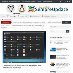 Chamada de trabalho para o Duzeru Linux, uma distribuição brasileira!