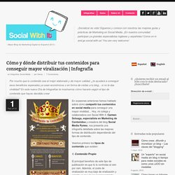 Cómo y dónde distribuir tus contenidos para conseguir mayor viralización