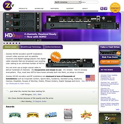 ZeeVee.com | Distribute HD video over coax ~ commerical, connected home