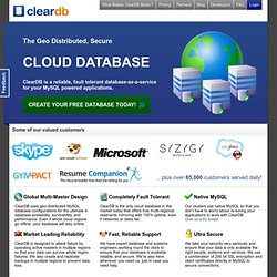 ClearDB.com - EC2 Powered MySQL Cloud Database Provider
