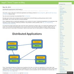 Distributed Applications and Node.js