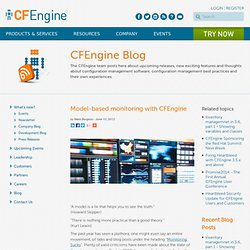 Model-based monitoring with CFEngine - CFEngine - Distributed Configuration Management
