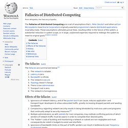 Fallacies of Distributed Computing - Wikipedia, the free encyclo