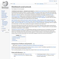Distributed social network