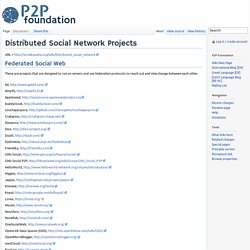 Distributed Social Network Projects