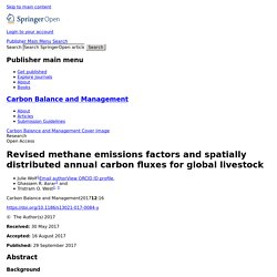 Revised methane emissions factors and spatially distributed annual carbon fluxes for global livestock