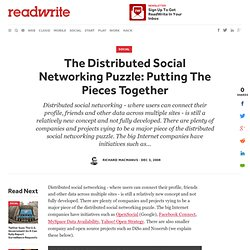 The Distributed Social Networking Puzzle: Putting The Pieces Tog