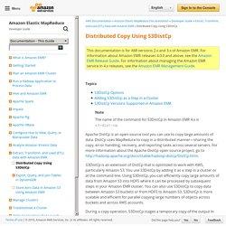 Distributed Copy Using S3DistCp - Amazon Elastic MapReduce