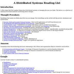 Distributed Systems Reading List