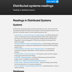 Distributed-systems-readings